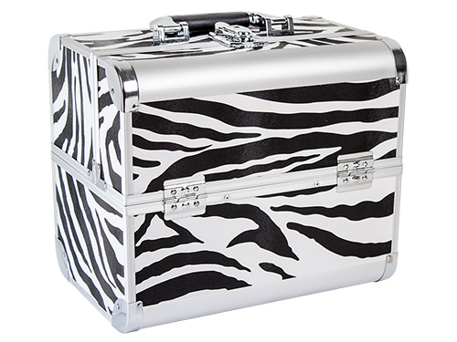 beauty koffer delight aluminum zebra made in germany european nail shop. Black Bedroom Furniture Sets. Home Design Ideas