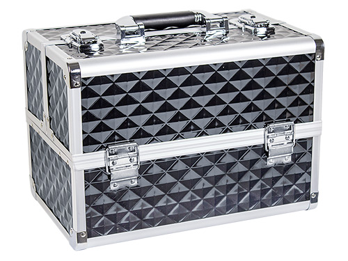 Beauty Case DIAMOND Aluminium black