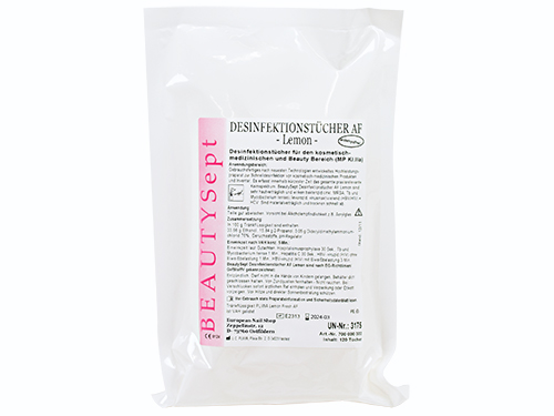 BEAUTYSept 120 Disinfectant Wipes Refill Bag lemon