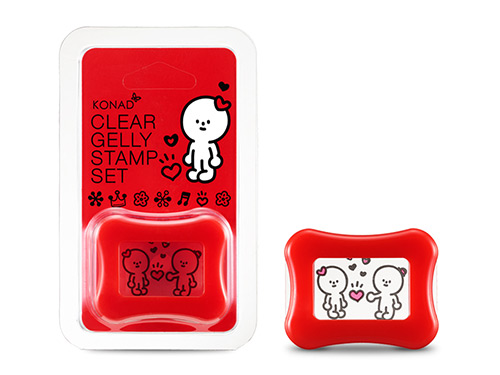 KONAD Clear Gelly Stamp Set X BARABAPA Happy