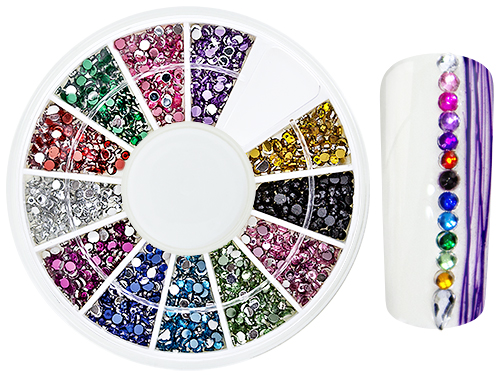 RhineStones NailArt WheelBox Round