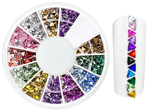 RhineStones NailArt WheelBox triangle