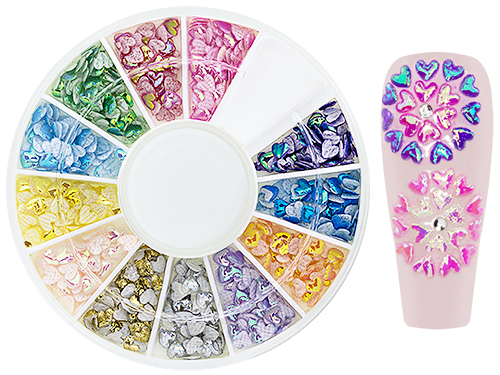 Iridescent NailArt WheelBox Hearts II
