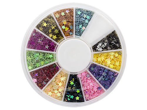 Transparent NailArt WheelBox Stars