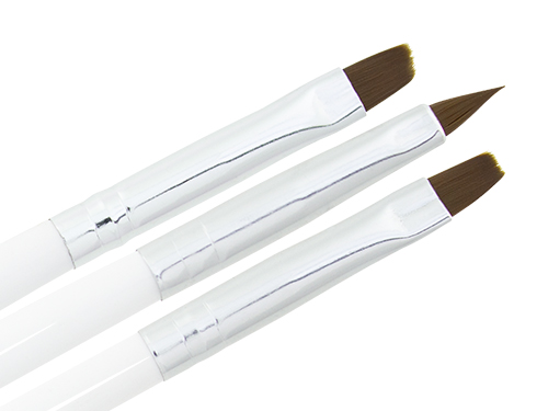 3 Piece Gel Brush Set white
