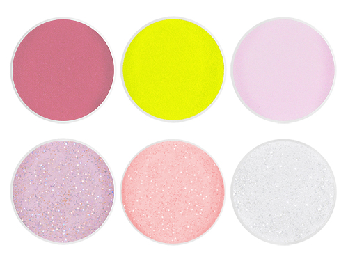 Acrylic Color Powder Sample 6 x 5 g