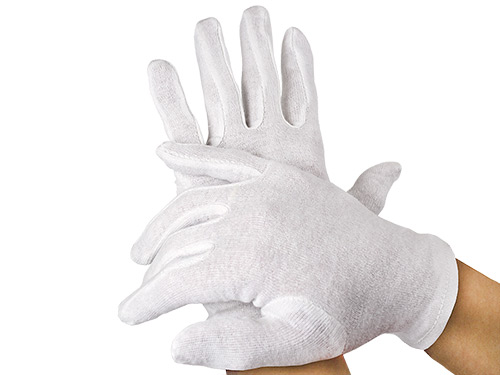 Cotton Gloves M white 1 pair