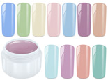 Pastel gel, sample 11 gels each 5ml
