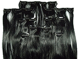 Clip-in, Synthetic Hair, 8 pieces, silky, #1