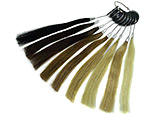 Hair Extensions, 100% REMY human hair, 9 colors, sample