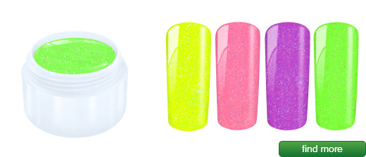 Neon glitter gel 5ml | European Nail Shop
