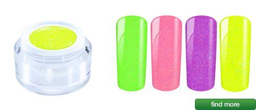 Neon glitter gel 5ml acrylic jar | European Nail Shop