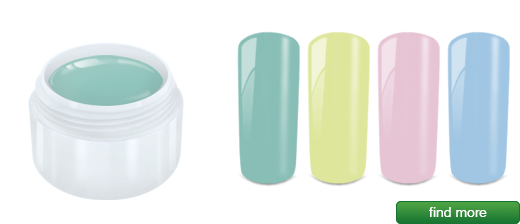 Pastel gels | MADE IN GERMANY developed, produced and filled in Germany | European Nail Shop