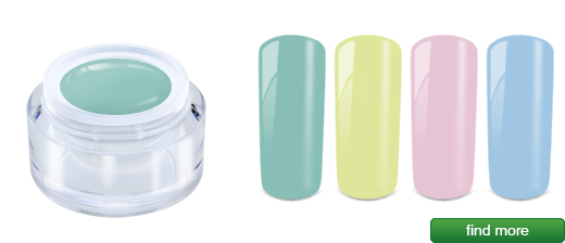 Pastel gels 5ml, acrylic jar | MADE IN GERMANY | European Nail Shop