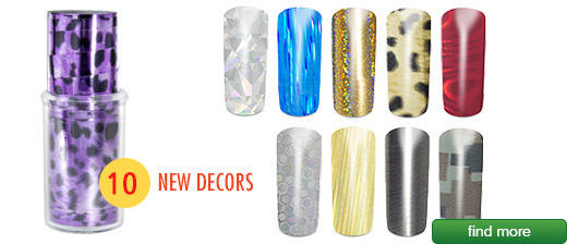 TRACE N´RUB Reflection Nail Film | Decorative transfer film which is easily applied to the nails | European Nail Shop