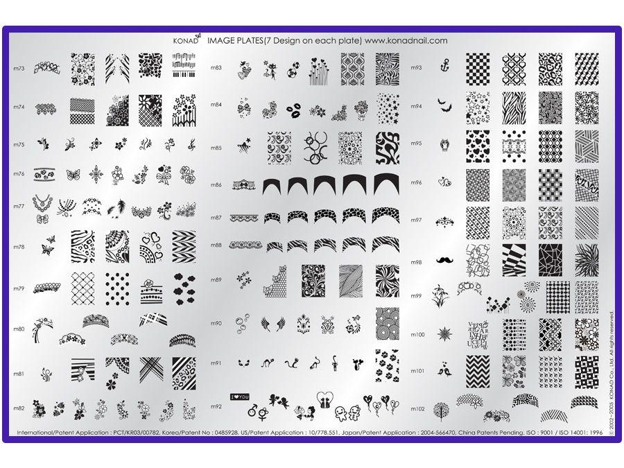 Konad stamping nail art image plate m65 nail art ideas konad sting nail art reviews ideas prinsesfo Gallery